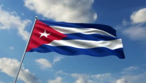 stock-footage-cuban-flag-waving-against-time-lapse-clouds-background
