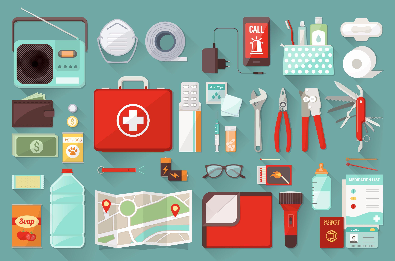 kit de emergencia para desastres naturales
